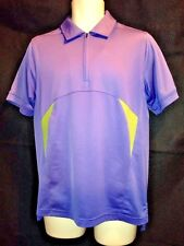 MENS CUTTER BUCK 1/4 ZIP GOLF TENNIS  POLO SHIRT SIZE M PURPLE