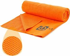 New Microfiber Yoga Towel, Bikram Yoga Towel, Non Skid with Premium Carry Bag