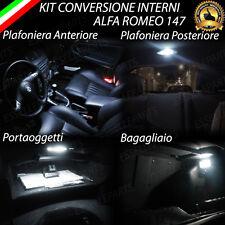 KIT LED INTERNI ALFA ROMEO 147 ANTERIORE + POSTERIORE + BAULETTO + BAGAGLIAIO