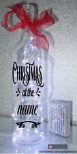 Vinyl Sticker For Bottle - Christmas at ADD OWN NAME Christmas bottle sticker