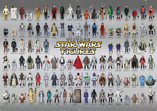 VINTAGE STAR WARS POSTER ACTION FIGURE CHECKLIST KENNER PALITOY SILVER