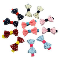 20pcs Toddler Girl Baby Hairpin Ribbon Bowknot Headwear Hair Clip Accessories