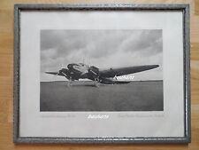 Foto im Rahmen Fliegerei-Flugzeug He 111-Ernst Heinkel Flugzeugwerke Rostock