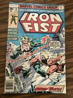 Iron Fist #14 1st appearance of Sabertooth. F/VF condition  ( NOT CGC ) RATED