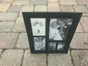 "Harbortown Industries Black Metal Magnetic ""L"" Style Multi Picture Frame Collage"