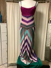 M Missoni multicolored long sleeveless dress 8