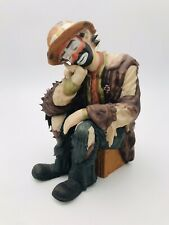 "Emmett Kelly Jr ""The Thinker"" Flambro Limited Edition Figurine - Vintage 1960's"