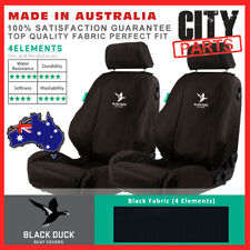 BLACK DUCK FRONT FABRIC SEAT COVERS ISUZU DMAX 5/2012 ON SX LS, LS-U, LS-M DUAL