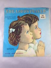 "The Lord's Prayer 78 RPM 7"" Record / Wall Art Vintage 1964 Children's Record"