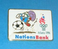 ATLANTA 1996 Olympic Collectible Sponsor Pin - Nations Bank Featuring IZZY