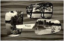 Klein Köris Brandenburg DDR Mehrbildkarte 1968 Strandpartie am Tonsee Boot Wald