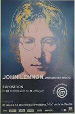 """""""EXPO John LENNON (BEATLES)"""" Affiche originale entoilée Andy WARHOL  43x65cm"""