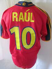 España Euro 2000-2002 Raul 10 Home Football Shirt Tamaño Mediano / 34558