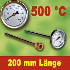 Thermomètre de Four 500°C avec Tube Plongeur 200 Mm
