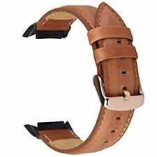 Samsung Gear S2 Watch Band Genuine Leather Replacement With Stainless Steel