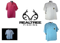 Men's Realtree Fishing Guide Shirt S/S Button Down Vented Back Pick Color Size