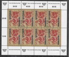 p625 ÖSTERREICH/  Tag der Briefmarke 1991 MiNr 2032 o Kleinbogen