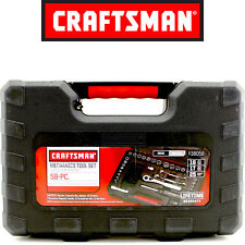 Craftsman 58 Piece Mechanics Tool Set with Storage Case SAE INCH METRIC 938058