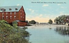 Ranck's Mill & Dam or City Mill in Lancaster PA OLD