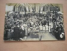 A Vintage Postcard Of A Yuletime Bazaar Dated1913 -Very RARE!