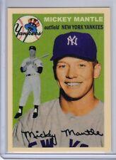 Mickey Mantle New York Yankees rare custom card by Bob Lemke '54 style #254