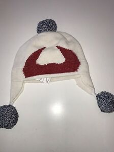 NWT KATE SPADE BABY GAP KID'S GIRL'S DEVIL HORNS POM POM SKI HAT M/L 50-52 CM