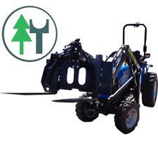 Gabelträger / Frontladerpalettengabel mit Holzgreifer für Traktoren-Frontlader