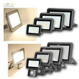 Mini LED Fluter BULLED schwarz 10/20/30/50W 230V IP65 Außen-Scheinwerfer-Leuchte