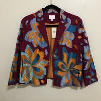 ETT:TWA anthropologie size M woodstock floral embroidered jacket AI21