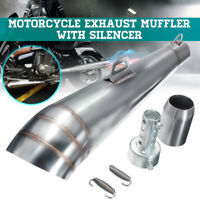 38mm-51mm Universal Motorcycle Exhaust Muffler Pipe Slip On ATV Stainless Steel