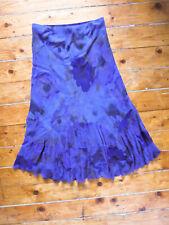 Per Una Purple Maxi Skirt Size 12 Purple Chiffon Boho Flippy Hem Long Lined