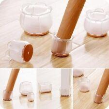 Silicone Chair Leg Caps Furniture Floor Anti-Scratch Protectors Feet Pads 16 Pcs