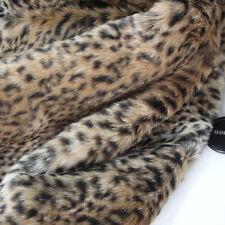 "leopard print faux fur fabric  leopard fur coat carpet costumes 60"" wide  BTY"
