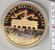 Fall der Berliner Mauer  Cu vergoldet 70 mm 110 g Medaille Gigantprägung PP (16)