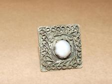 Vintage Tribal Turkoman Hand Made With Gemstone Agate Center Adjustable Ring