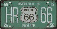 PLAQUE métal vintage USA ROUTE 66 HISTORIC - 30 X 15 cm