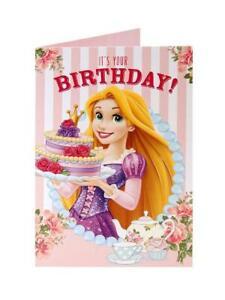 Disney Princess's Rapunzel Tea & Cake Birthday Greetings Card For Girl Her