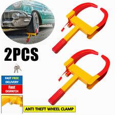 2x Heavy Duty Wheel Clamp Anti Theft Lock Caravan Trailer Security With Keys CHN