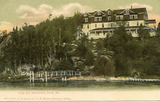 POSTED UNDIVIDED BK POSTCARD 1ST HOLLY INN CHRISTMAS COVE S. BRISTOL MAINE
