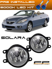 LED 2007-2010 Toyota Solara Clear Lens Replacement Fog Light Housing LH/RH Pair