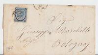 Italien - 1865, frankierter Beleg (20 c. Überdruck) aus GENOVA - bitte ansehen !