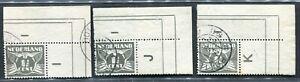 Nederland, nvph 172, 1½ ct Vliegende Duif, 3 verschillende hoekstukken; gebruikt