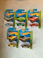 Lot of (5) Different Hot Wheels Mopar Muscle Cars - Dodge & Plymouth! NIP!