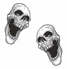 2x skull sticker Motorcycle Gas Tank car bumper decal15