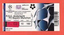 ORIG. biglietto CHAMPIONS LEAGUE 2003/04 RSC Anderlecht-il Bayern Monaco!!!