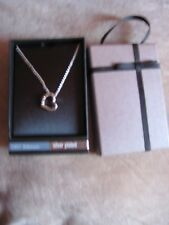 silver plated M&S necklace in box