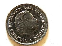 1963 Netherlands Ten (10) Cent Coin