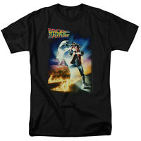 Back to the Future Movie Poster Marty McFly Delorean Licensed Tee Shirt S-3XL