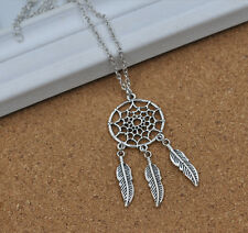 Hot Womens Vintage Retro Feather Pendant Jewelry Long Sweater Chains Necklace E7