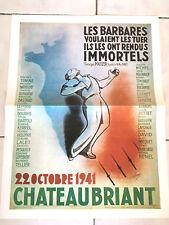 ANCIENNE AFFICHE DE GUERRE PUBLICITE CHATEAUBRILLANT 1940/45 WAR FRANCE